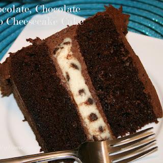 Chocolate, Chocolate Chip Cheesecake Cake