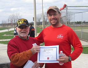 Photo: Paul's friend and running buddy wins a certificate today as well at Run 4 Vets