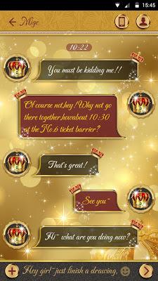 GO SMS PRO CROWN THEME - screenshot