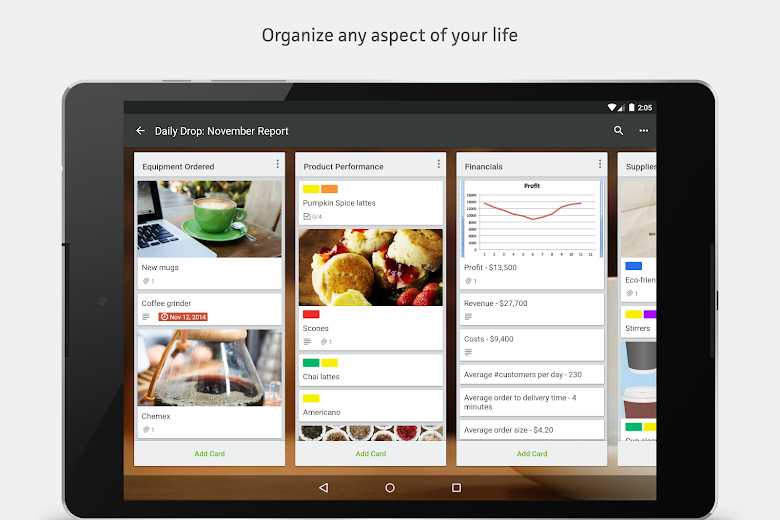 Screenshot 9 for Trello's Android app'