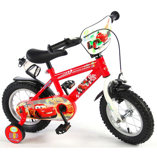 Bicycle Disney Cars 12 Inches 21,5 CM Boys Rim Brake Red