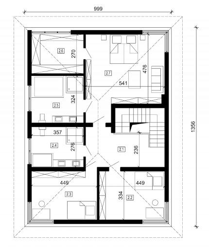 DN 001 - Rzut piętra