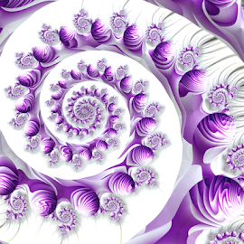 Spiral 27 by Cassy 67 - Illustration Abstract & Patterns ( purple, abstract art, swirl, wallpaper, digital art, spiral, fractal, digital, fractals )