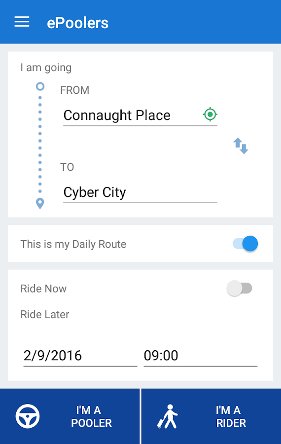 ePoolers - Carpool & Bikepool- screenshot