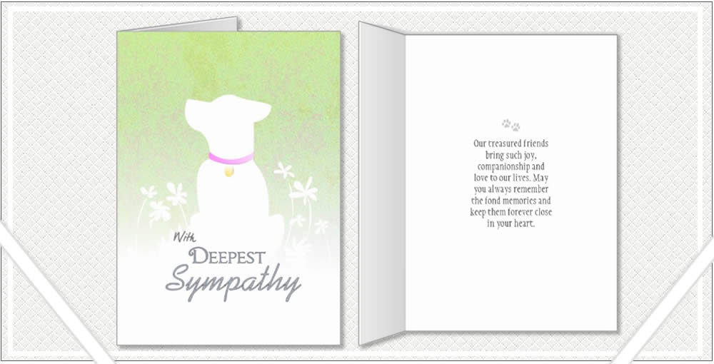 dog sympathy cards poems quotes