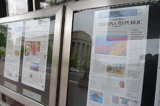 Photo: May 1st front pages at the Newseum