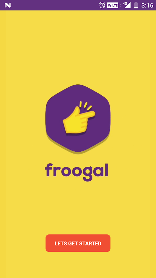Froogal- screenshot