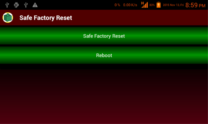 Safe Factory Reset - screenshot