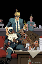 Photo: THE DELINQUENTS #4 COVER. 2014. Ink(ed by Joe Rivera) on bristol board with digital color, 11 × 17″.