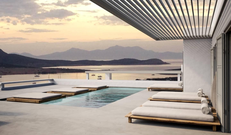 Maison avec piscine en bord de mer Antiparos
