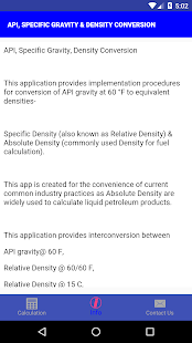 API, SPECIFIC GRAVITY & DENSITY CONVERSION – Apps on Google Play