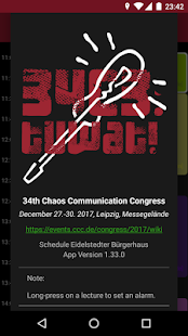 34C3 Schedule - náhled