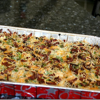 Slimmed Down Loaded Potato & Buffalo Chicken Casserole