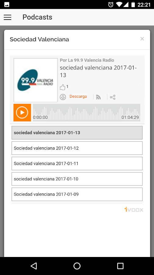 99.9 Valencia Radio- screenshot