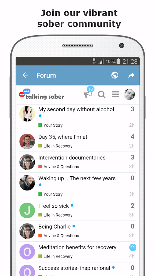 Sober Time - Sobriety Counter & Recovery Tracker- screenshot