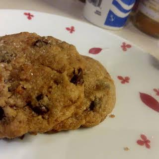 Vegan Salted Chocolate Chip Bacon Cookies.
