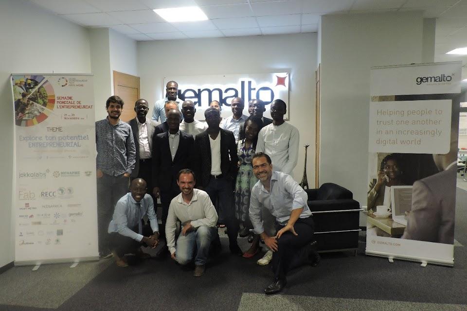 Les participants à l'Atelier sur le UX Design par Henri Damien et Louis Massuel chez GEMALTO Côte d'Ivoire