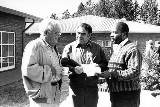 Astute operator: The late Joe Slovo, left, Ronnie Kasrils and Jacob Zuma were friends in the liberation struggle. In his book A Simple Man, Kasrils attempts to demystify the demeanour that Zuma has fashioned over the years for himself. Picture: SUPPLIED