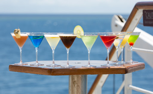 wind-surf-cocktails-2.jpg - Enjoy a cocktail on deck on your next cruise.