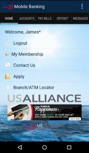 USALLIANCE Mobile Banking App