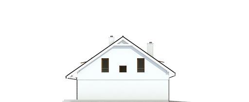 Głuszec z garażem 1-st. bliźniak A-BL1 - Elewacja lewa