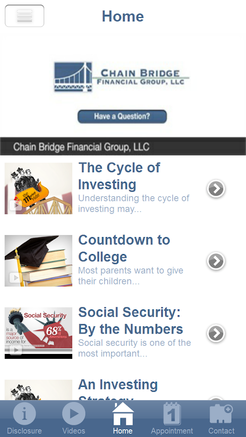 Chain Bridge Financial Group- screenshot
