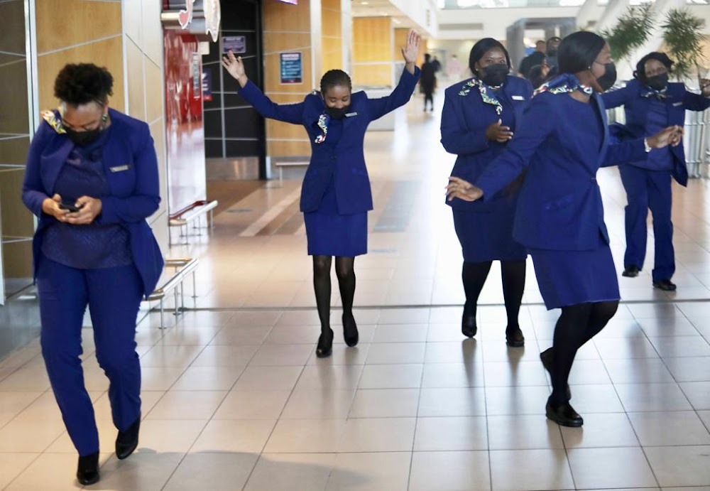 Singing and dancing as SA's national airline returns to the skies - TimesLIVE