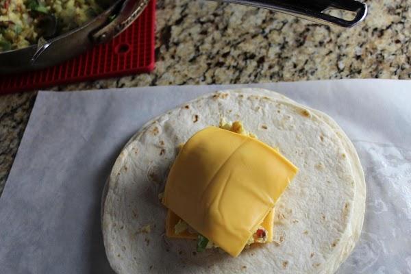 Egg and cheese homemade breakfast crunchwrap