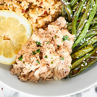 Lemon Pepper Salmon with Coconut Brown Rice