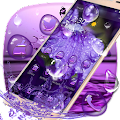 Purple Water Drops Theme APK