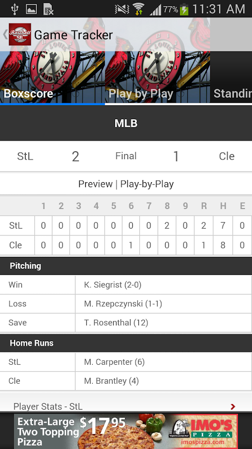 BaseballStL St. Louis Baseball - screenshot