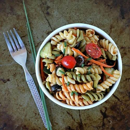 "Vegetable Pasta Salad ""I love this salad because it's quick and easy..."