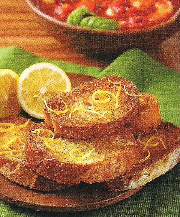 Lemon Bruschetta Recipe
