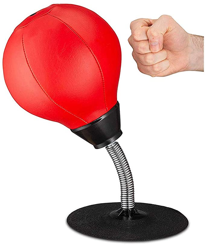 DALADA Desktop Mini Punch Bag, Table Boxing Speed Ball for Stress Relief, Punching Bag with Stand for Kids Adults, Training Desktop Hit Ball with Suction Cup for Home Office