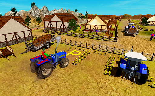 New Village Farming Tractor Parking Game 2018 1.0 screenshots 2