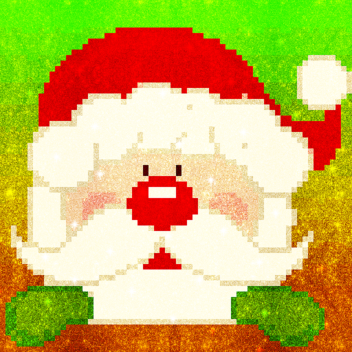 Christmas Glitter Pixel Art: Color by Number Book Icon