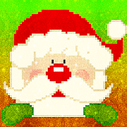 Christmas Glitter Pixel Art: Color by Number Book