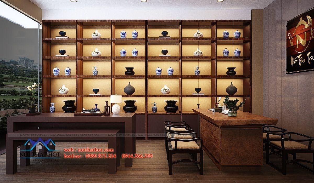thiết kế quán trà đạo 3