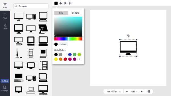designevo logo maker interface