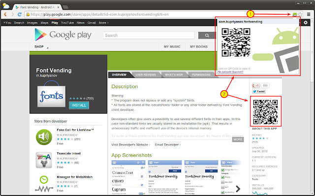 QR Code Generator for Google Play™ on Web