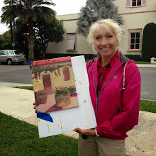 Photo: Pam with her painting 12-12-13