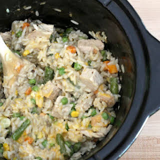 Crock Pot Turkey and Rice Casserole.