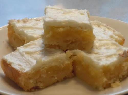 """Melt in Your Mouth Lemon Bars """"The most awesome bars ever. Will..."""