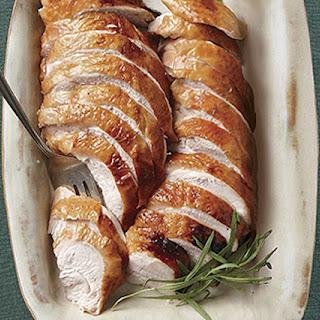 Maple-Brined Turkey Breast with Mushroom Gravy
