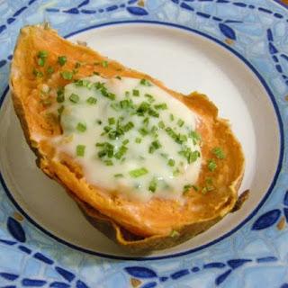 Sweet potato w/Maple Jalapeno Sour Cream