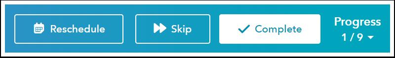 HubSpot's task queue bar