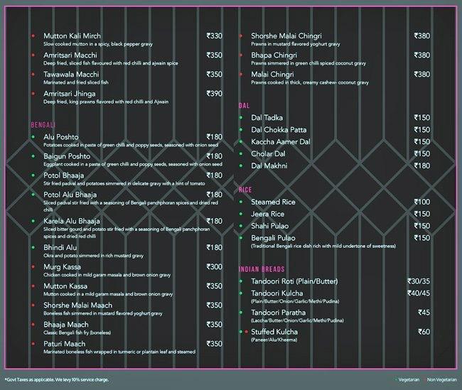 Bflat and Highnote Bar and Dining menu 7