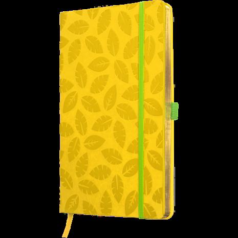 Anteckningsbok LÖV - gul/guld