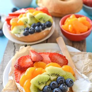 Rainbow Fruit Salad Bagels