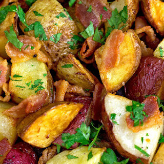 Bacon Parsley Roasted Potatoes
